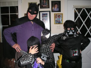 Fatman, accompanied by the Legion of Junior Super-Villains