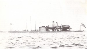 USS Catskill on coast defense duty, 1898