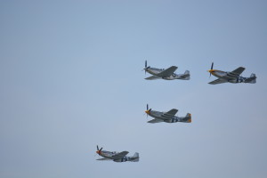 North American P-51 Mustang fighters